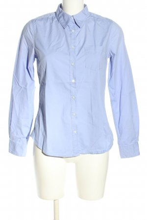H&M L.O.G.G. Langarm-Bluse blau Business-Look