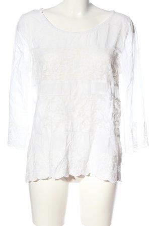 H&M L.O.G.G. Langarm-Bluse weiß Casual-Look