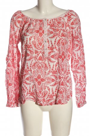 H&M L.O.G.G. Langarm-Bluse weiß-rot Mustermix Casual-Look