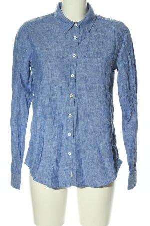 H&M L.O.G.G. Langarmhemd blau meliert Casual-Look