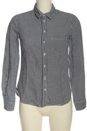 H&M L.O.G.G. Langarmhemd schwarz-weiß Allover-Druck Business-Look