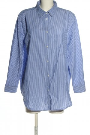 H&M L.O.G.G. Langarmhemd blau-weiß Allover-Druck Casual-Look