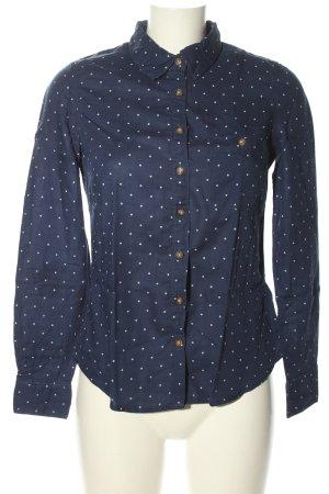 H&M L.O.G.G. Langarmhemd blau-weiß Punktemuster Casual-Look