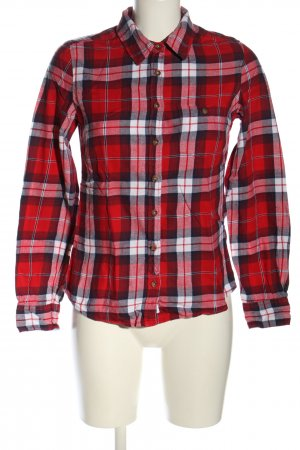 H&M L.O.G.G. Langarmhemd rot-weiß Allover-Druck Casual-Look