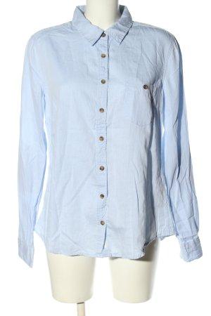H&M L.O.G.G. Langarmhemd blau Business-Look