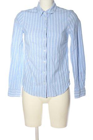 H&M L.O.G.G. Langarmhemd blau-weiß Streifenmuster Business-Look