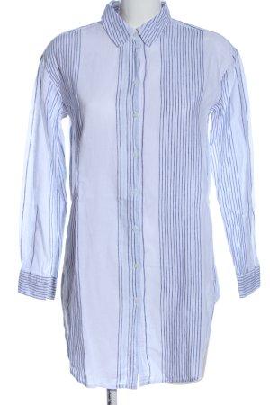 H&M L.O.G.G. Langarmhemd weiß-blau Streifenmuster Casual-Look