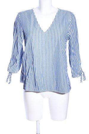 H&M L.O.G.G. Langarmhemd blau-weiß Streifenmuster Casual-Look