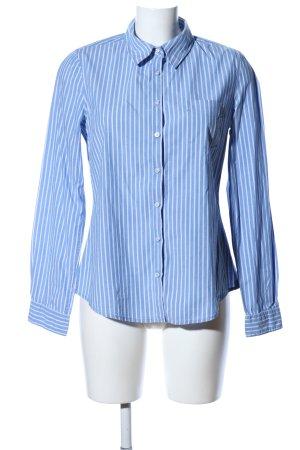 H&M L.O.G.G. Langarmhemd blau-weiß Casual-Look
