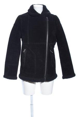 H&M L.O.G.G. Lederjacke schwarz Casual-Look