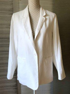 H&M L.O.G.G. Blazer boyfriend blanc lin