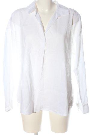 H&M L.O.G.G. Blusa de lino blanco estilo «business»