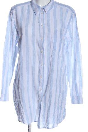 H&M L.O.G.G. Leinenbluse blau-weiß Streifenmuster Casual-Look