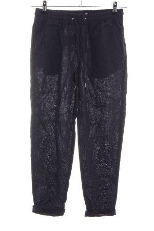 H&M L.O.G.G. Pantalón de lino negro estampado repetido sobre toda la superficie