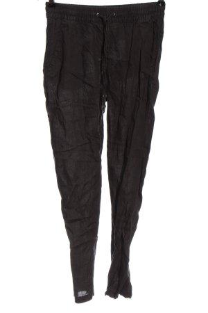 H&M L.O.G.G. Pantalon en lin noir style décontracté