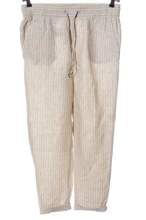 H&M L.O.G.G. Pantalone di lino crema-bianco stampa integrale stile casual