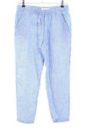 H&M L.O.G.G. Pantalon en lin bleu-blanc lin