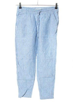 H&M L.O.G.G. Leinenhose blau-weiß Allover-Druck Casual-Look