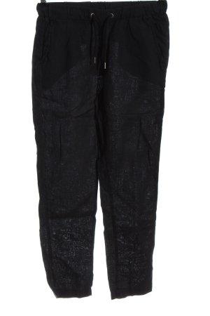 H&M L.O.G.G. Linnen broek zwart casual uitstraling