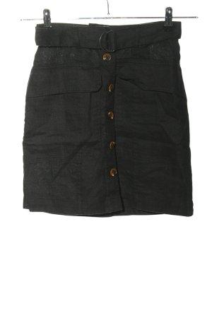 H&M L.O.G.G. Lniana spódnica czarny W stylu casual