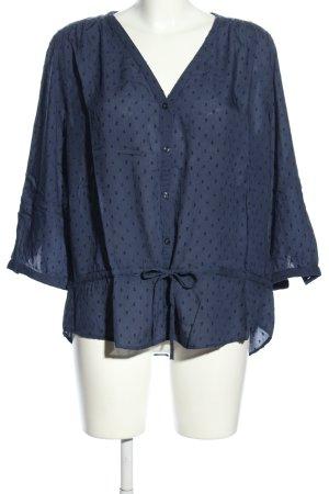 H&M L.O.G.G. Long-Bluse blau-schwarz Allover-Druck Casual-Look