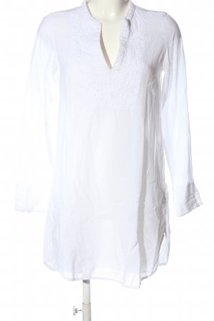 H&M L.O.G.G. Long-Bluse weiß Blumenmuster Casual-Look