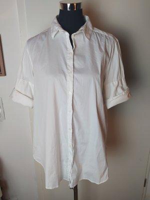 H&M L.O.G.G. Long Hemdbluse, weiß, 36