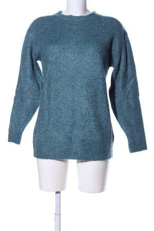 H&M L.O.G.G. Longpullover blau meliert Casual-Look