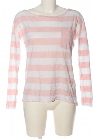 H&M L.O.G.G. Longsleeve pink-weiß Allover-Druck Casual-Look
