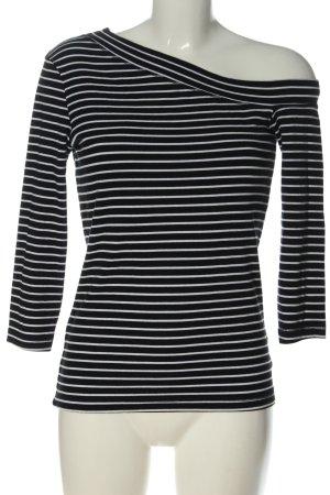H&M L.O.G.G. Longsleeve schwarz-weiß Streifenmuster Casual-Look