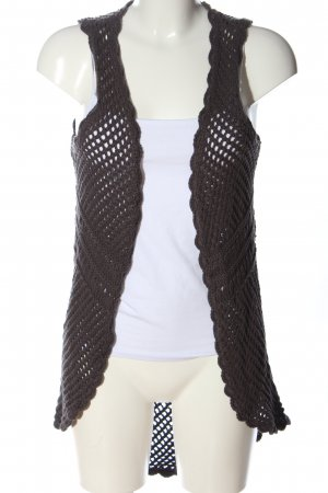 H&M L.O.G.G. Długa dzianinowa kamizelka brązowy W stylu casual