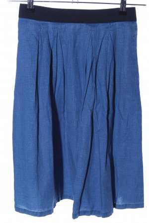 H&M L.O.G.G. Midirock blau meliert Casual-Look