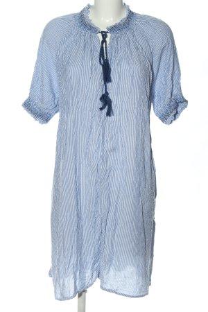 H&M L.O.G.G. Minikleid blau-weiß Allover-Druck Casual-Look