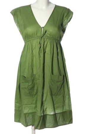H&M L.O.G.G. Minikleid grün Casual-Look