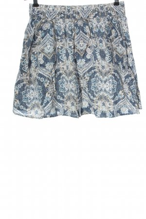 H&M L.O.G.G. Minirock blau-weiß abstraktes Muster Casual-Look