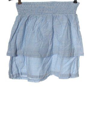 H&M L.O.G.G. Minirock weiß-blau Streifenmuster Casual-Look