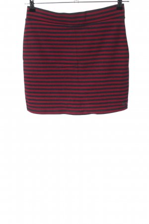 H&M L.O.G.G. Minirock pink-schwarz Streifenmuster Casual-Look
