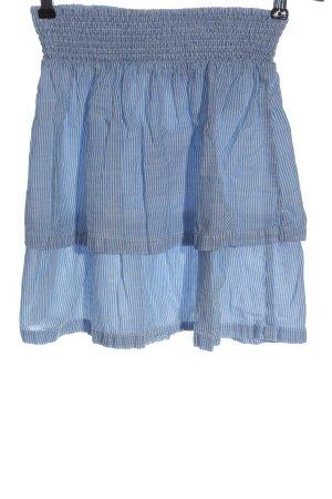 H&M L.O.G.G. Minirock blau-weiß Streifenmuster Casual-Look