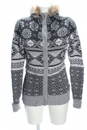 H&M L.O.G.G. Norwegian Cardigan light grey-white graphic pattern casual look