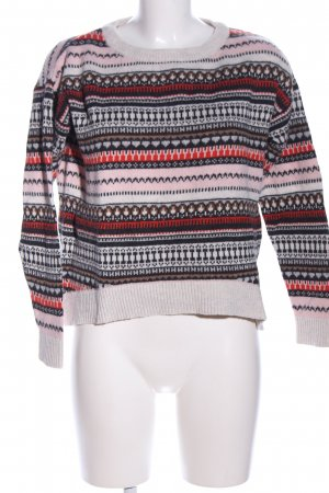 H&M L.O.G.G. Norwegian Sweater allover print casual look