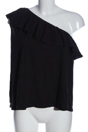H&M L.O.G.G. Eénschoudershirt zwart casual uitstraling