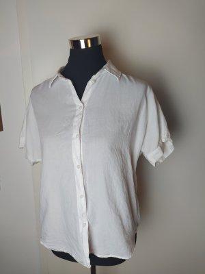 H&M L.O.G.G. Bluzka oversize biały Bawełna