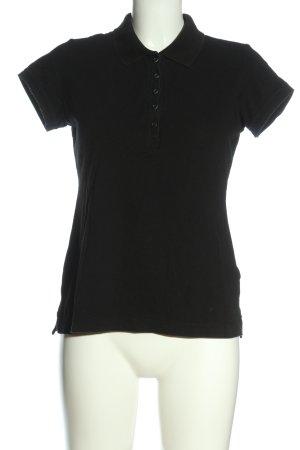 H&M L.O.G.G. Polo-Shirt schwarz Allover-Druck Casual-Look