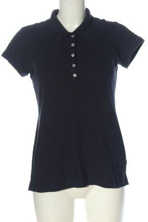 H&M L.O.G.G. Polo-Shirt blau Allover-Druck Casual-Look