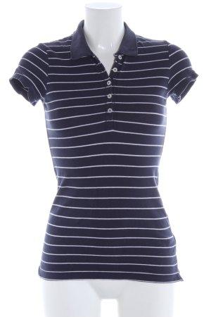 H&M L.O.G.G. Polo bleu-blanc motif rayé style décontracté