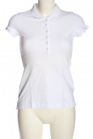 H&M L.O.G.G. Camiseta tipo polo blanco look casual