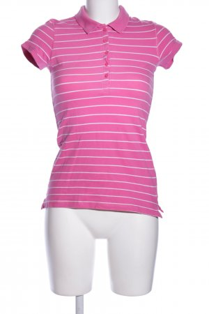 H&M L.O.G.G. Polo-Shirt pink-weiß Allover-Druck Casual-Look