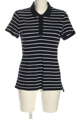 H&M L.O.G.G. Polo shirt zwart-wit volledige print casual uitstraling