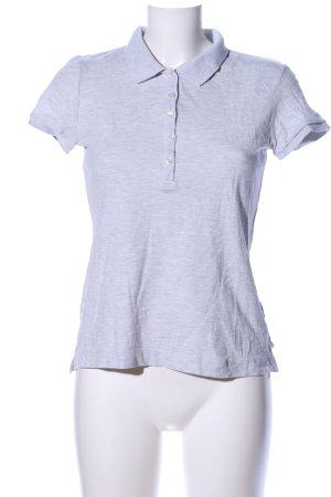 H&M L.O.G.G. Polo-Shirt hellgrau meliert Casual-Look