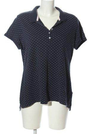 H&M L.O.G.G. Koszulka polo niebieski-biały Wzór w kropki W stylu casual